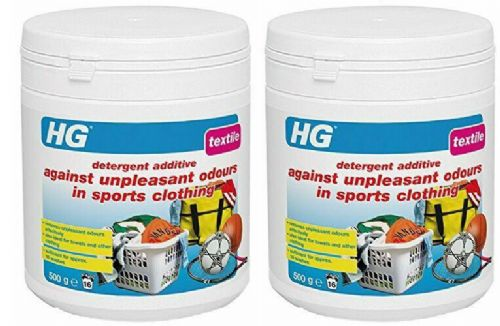 HG Against Unpleasant Odours in Sports Clothing (Detergent addtive) Pack of 2